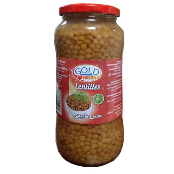 lentilles en conserve